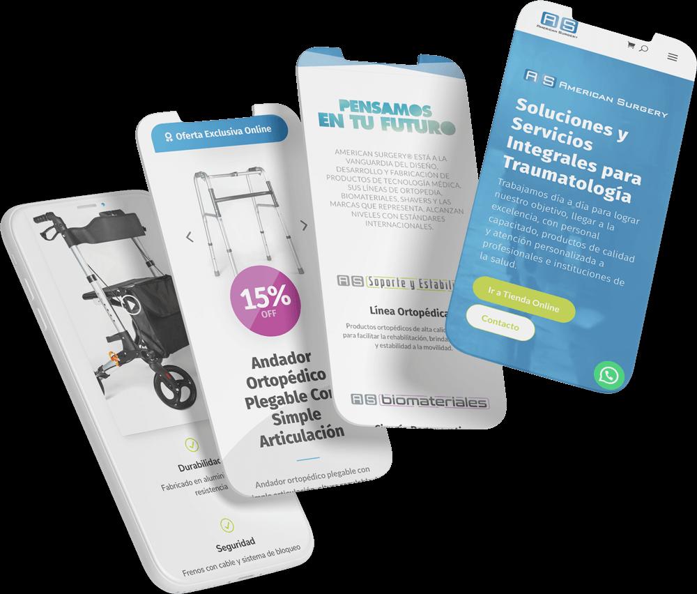Qualiaris - American Surgery Responsive mobile mockup