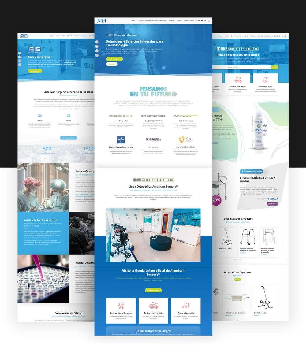 Qualiaris - American Surgery Webpage mockup