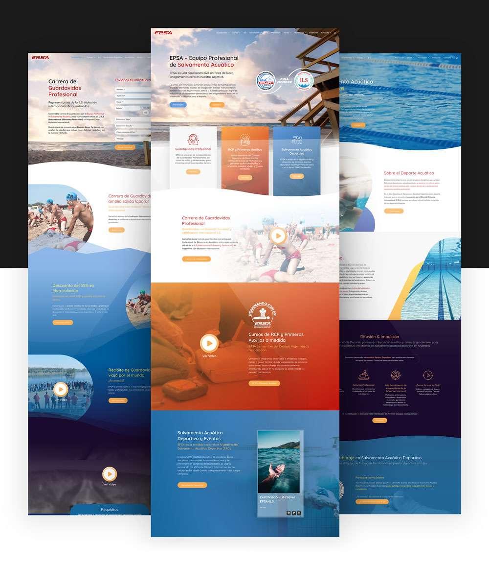 Qualiaris - EPSA Webpage mockup