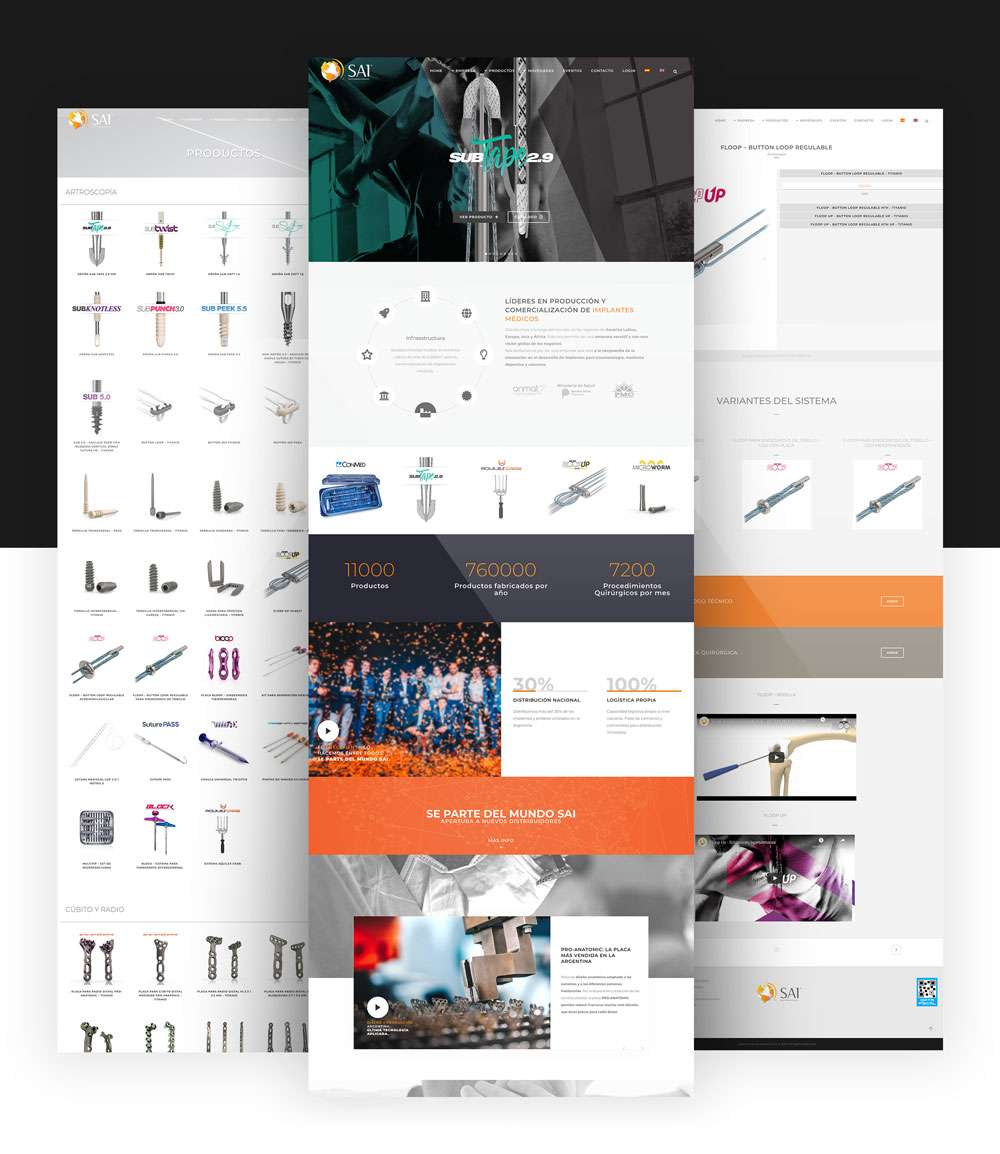Qualiaris - South America Implants Webpage mockup